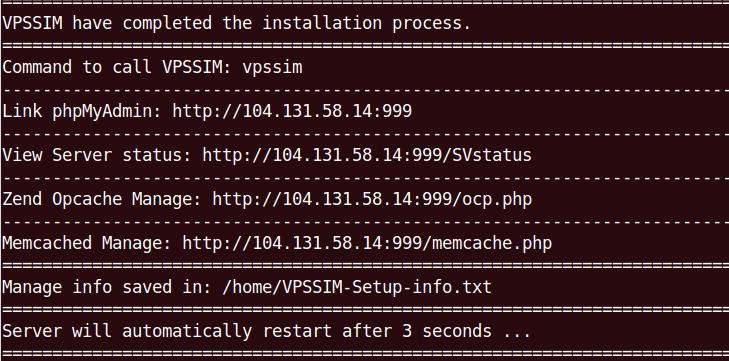 Hướng dẫn cài đặt VPSSIM lên VPS
